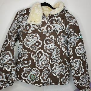 Burton paisley snowboard jacket